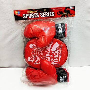 Боксерский набор детям - лапа и перчатки!!Привлечь ребенка к спорту не