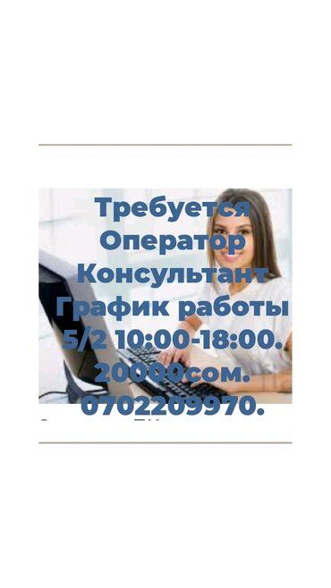 Требуется оператор консультант. График работы 5/2 10:00-18:00