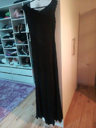Haljina-za-trudnicesirina-ledja-cmduzina-haljinr - Srbija: Haljina duga svečana, gola ledja, jednom obučena, skroz uz telo od zor