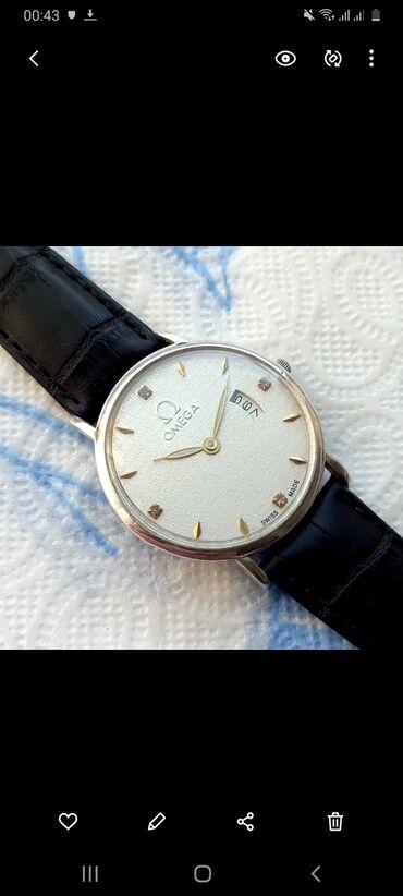 Gümüşü Kişi Qol saatları Omega
