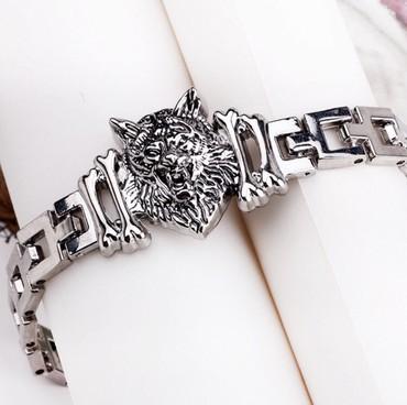 Мужской браслет «Волчья харизма». Красивый дизайн.Нержавеющая сталь