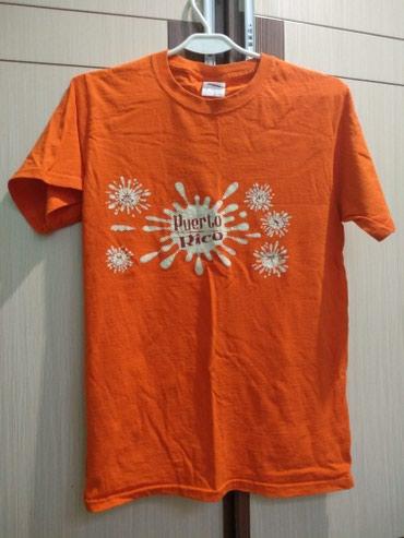 Оранжевая футболка подойдет на s,m, 100% в Бишкек