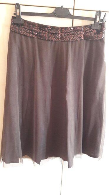 Suknja PS, nova, velicina 40, tamno braon