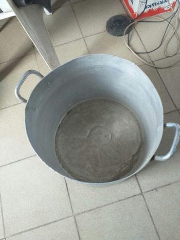 Кастрюли в Кыргызстан: Продаю 50л.кастрюлю с крышкой б/у в норм.состоянии,5 ведер воды входит