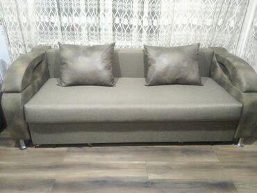 полочка для лаков в Кыргызстан: Продаю раскладной диван с полкой. Состояние почти новое. Обивка из
