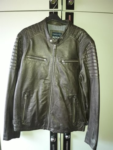 Kozna jakna,muska nova nije nosena,prava koza,extra model,l velicina,m - Beograd