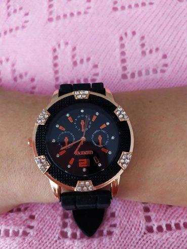 часы-и-нож в Кыргызстан: Женские часы с ремешком из розового золота с кристаллами и силиконовым