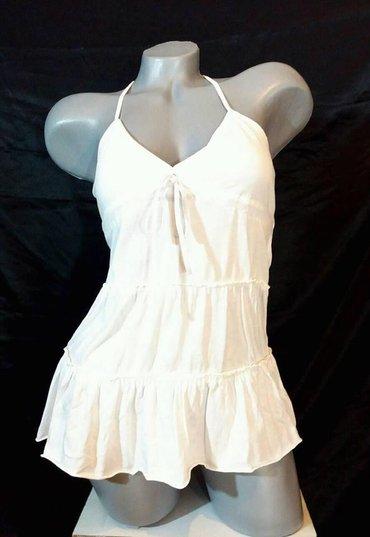 Snezno bela - Srbija: Preslatka,romanticna majica snezno bele boje,uklopiva uz sve