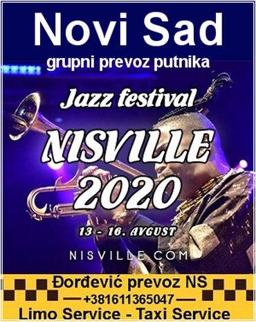 Novi Sad - Jazz festival NISVILLE 2020grupni prevoz putnikaJazz