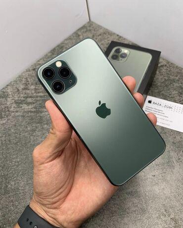 iphone 11 pro цена ош in Кыргызстан   ЧЕХЛЫ: IPhone 11 Pro   64 ГБ   Зеленый Б/У   Face ID, С документами