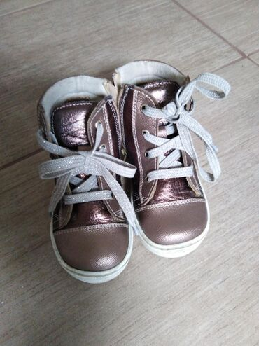 Pocepkane farmerke br - Srbija: Kožne patika cipele, br. 25, obuvene nekoliko puta, boja je roze