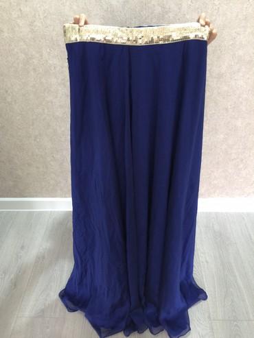 синяя юбка в Кыргызстан: Вечерняя юбка. ПР Турция. Сочный синий сверху шифон. Пояс поэтки. Цена