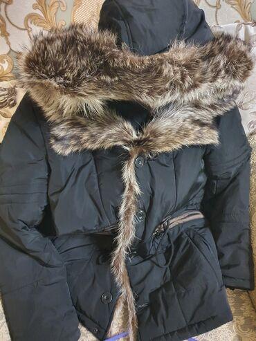 купить черные диски r17 в Кыргызстан: Куртка мужская,воротник натуральный лисий мех,заказали год назад,одето