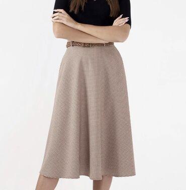 Продаю юбку, расцветка гусиная лапка, ткань плотная, размер 44 (М)