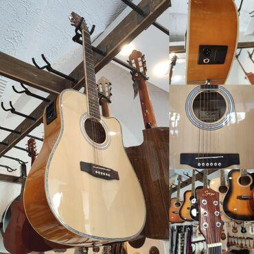 gitara akustik - Azərbaycan: Elektro akustik gitaraSmiger GAH61 NSimlərin sayı: 6Çanta və kabel
