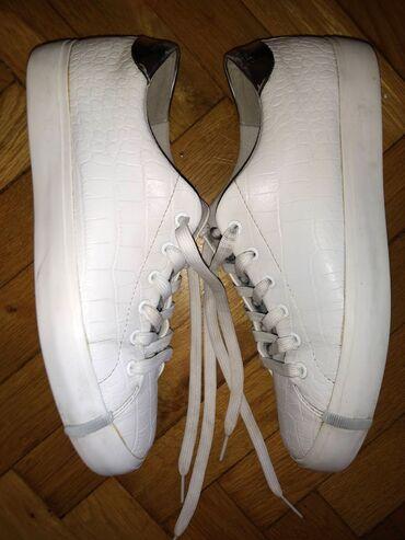 Ženska patike i atletske cipele - Beograd: Original Armani bele patike 40Original Armani bele patike, nosene