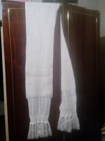 Шарф женский, белый, длинный... размер 24 в Бишкек