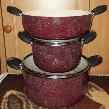 Sumqayıt şəhərində Qranit qazan desti wokkk endrimle satilir 3lu dest 50 azn cemi wok ✔