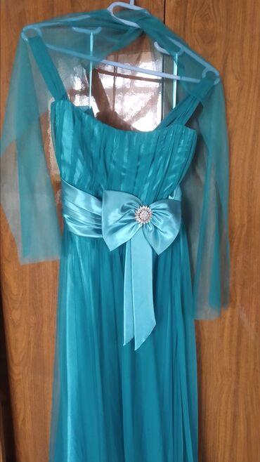 Вечернее платье бирюзового цвета.было одето 1 раз.покупалось за 40