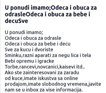 Zaposlenje - Srbija: Ako zelite rad od kuce pisite