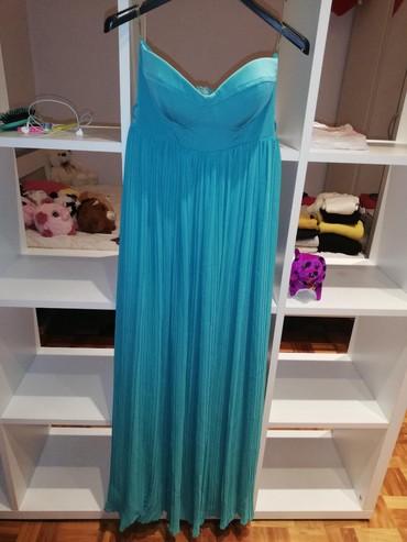 Elegantna duga haljina, tirkiz boje, 36 veličina - Belgrade