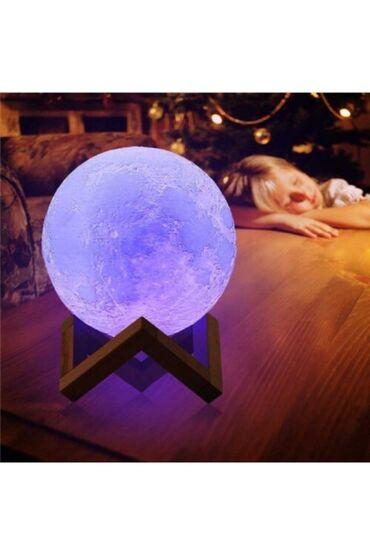 3D Led Ay Lampası 16 rəngli idarəetmə pultu ilə