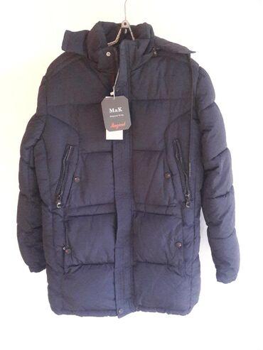 Мужская одежда - Кара-Балта: Куртка мужская, темно-синяя, абсолютно новая (остаток от продажи