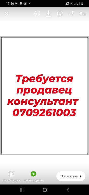 Срочно нужен деньги - Кыргызстан: Продавец-консультант. 5/2