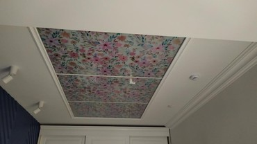Потолки из стекла с рисунком и подсветкой, а так же панно на стену. в Бишкек