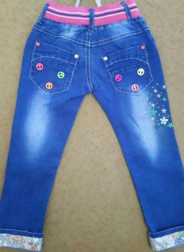 джинсы на девочку в идеальном состоянии, на 4-5 лет, длина без подворо в Бишкек - фото 3