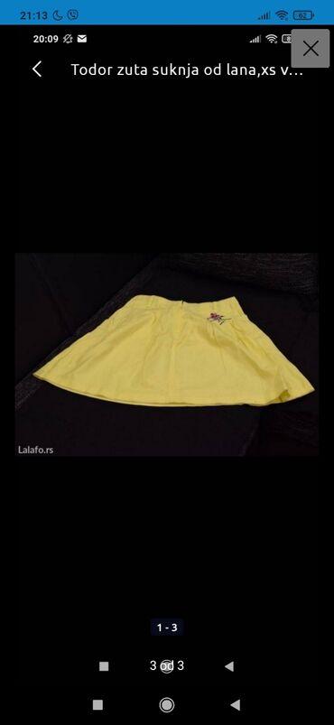 Suknja todor - Srbija: Lan todor suknja, xs, duzina 47cm