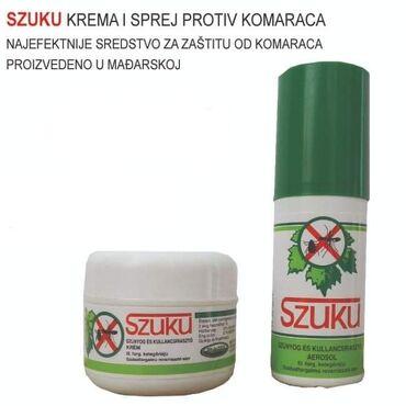 SZUKU krema ili sprej protiv komaracaSamo 550 dinara.Porucite odmah u