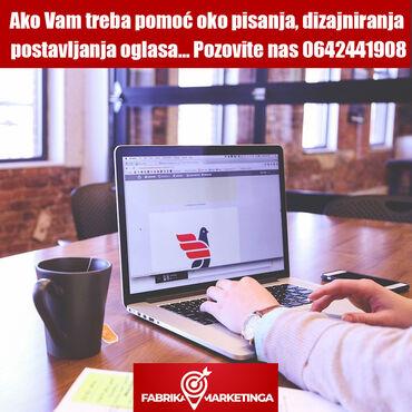 Reklamiranje, štampanje - Srbija: Pisanje i postavljanje oglasa  Ako Vam treba pomoć oko pisanja, dizajn