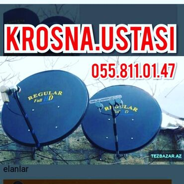 TV/video üçün aksesuarlar - Azərbaycan: Peyk antena ustasiKanallarin yigilmasiBis kodlarin berpasiTam