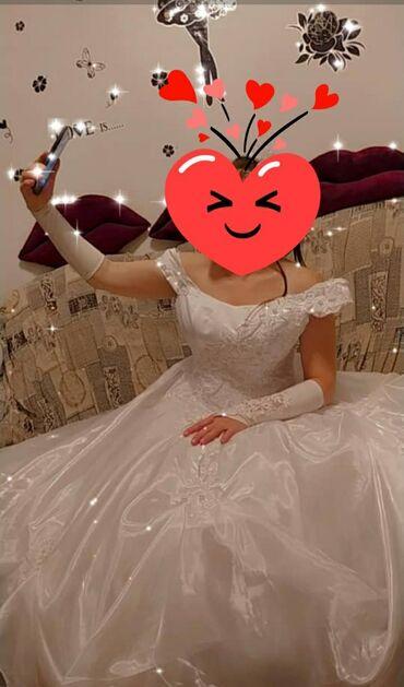 Личные вещи - Ленинское: Продаю ооочень срочно свадебное платье. нежное. белоснежное. очень