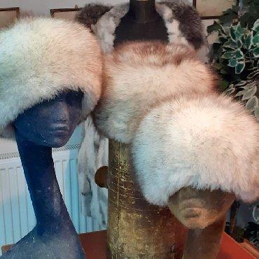 Subara bela lisica - Srbija: Subara od polarne lisice Prirodno krzno gusta topla dlaka