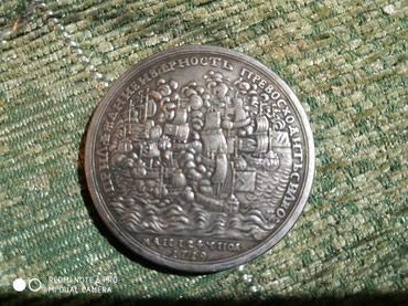 Монета 1719 год. Пётр I. Копия. Для колекции. в Каракол - фото 2