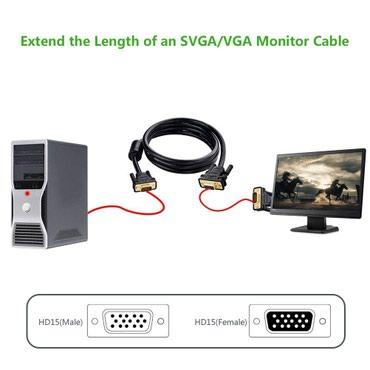 VGA (M-F) новый кабель длиной 15 метров. в Бишкек
