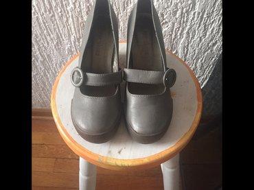 Sive cipele na platformu jednom obuvene broj 38 - Beograd