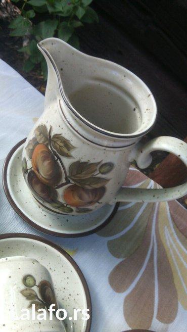 Prelep set šoljice, posuda za mlekooo (može biti i čajnik)  - Cuprija - slika 9