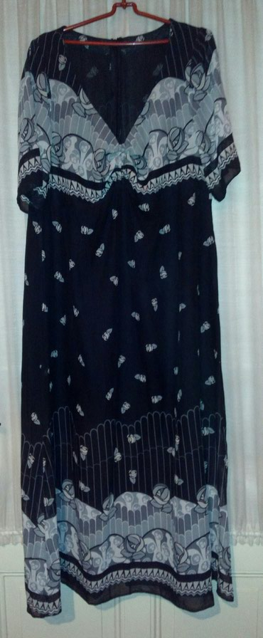Nova haljina, vel. 44, kombinacija crno-sivo-belo. - Sombor