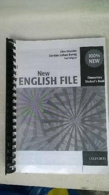 Knjiga:New English file,Elementari,2 knjige,oko 200 str