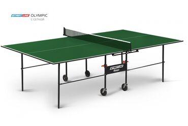 купить теннисный стол в Кыргызстан: Теннисный стол START LINE OLYMPIC с сеткой green 6021-1Теннисный стол