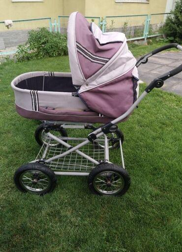 Коляски - Лебединовка: Коляска детская.  Большие надувные колёса, система амортизации, мягкий