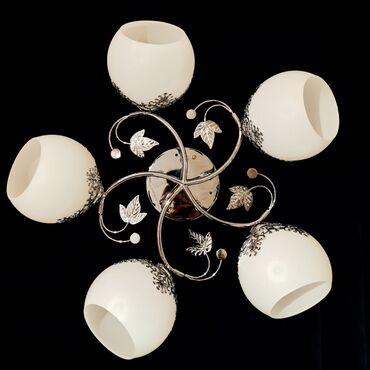 Плафончатые люстры на 5 лампочек все по одной цене патрон е27