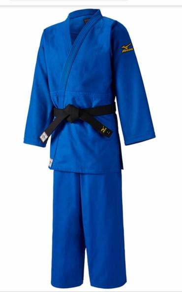 """judo - Azərbaycan: Judo kimonosu """"Mizuno""""-750q lıq 100% pambıq parçadan hazırlanıb.Qalın"""