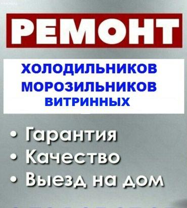 холодильников морозильников в Кыргызстан: Ремонт всех видов холодильников, морозильников и витринных