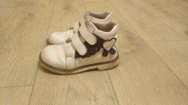 ортопедические ботинки для детей в Кыргызстан: Ортопедические детские кожаные ботинки для девочки Woopy, размер 28. С