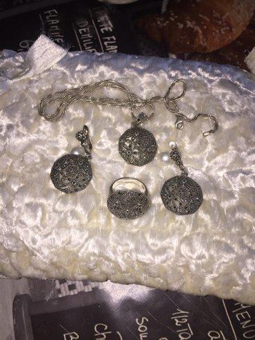 Капельное серебро,набор,925 в Бишкек