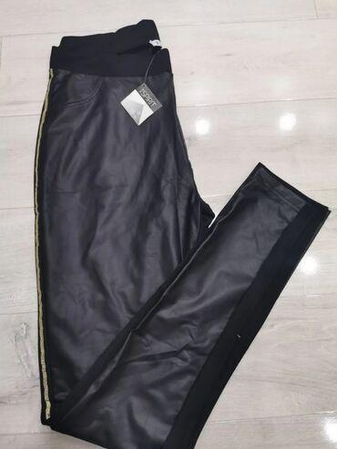 Tricetvrt pantalone - Srbija: Ženske pantalone/helanke, nazad pamuk, napred skaj, sa strane celom
